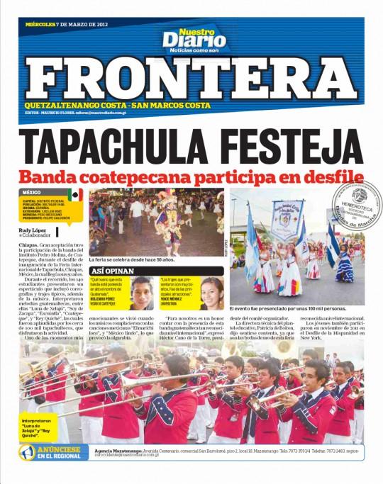 Nuestro diario guatemala tapachula festeja revista en for Ultimas noticias del espectaculo de hoy