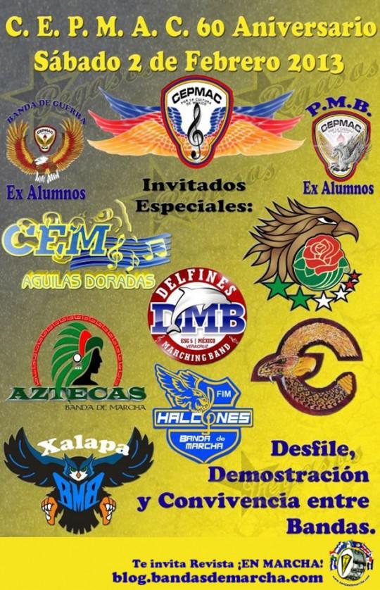 Pegasos-Marching-Band-Puebla-Mexico-2013-60-Aniversario-CEPMAC