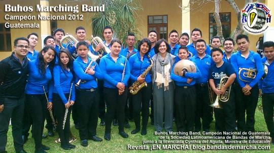 Buhos-Marching-Band-junto-a-Cynthia-del-Aguila-Ministra-de-Educacion-de-Guatemala-2013