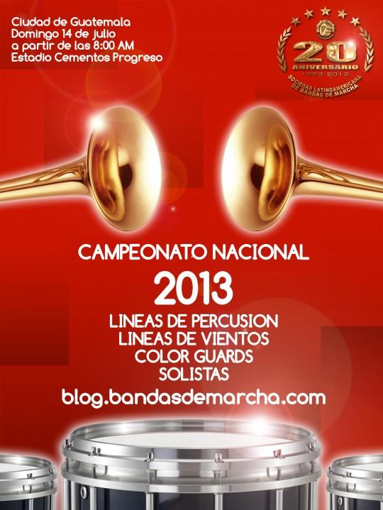 Poster-Drumline-Vientos-Percusion-Sociedad-bandasdemarcha-2013-campeonato