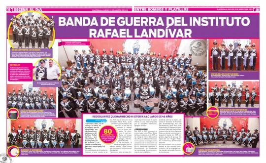 Al-Dia-Guatemala-14-08-2013-Instituto-Rafael-Landivar-completo-banda-de-guerra