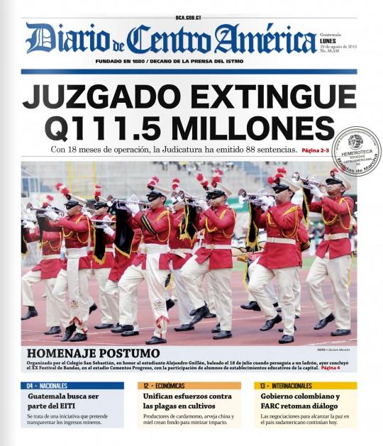 Diario-de-Centro-America-Guatemala-portada-19-8-2013-Liceo-Canadiense-San-Sebastian-bandasdemarcha