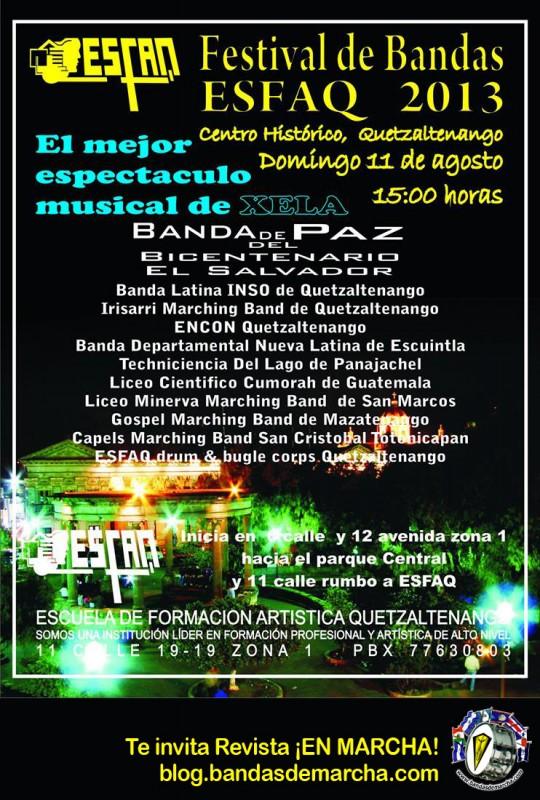Poster-ESFAQ-Guatemala-Festival-de-Bandas-2013-Quetzaltenango-bandasdemarcha