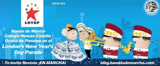 Banda-de-Musica-Colegio-Moises-Castillo-Ocana-de-Panama-en-el-Londons-New-Years-Day-Parade-2014