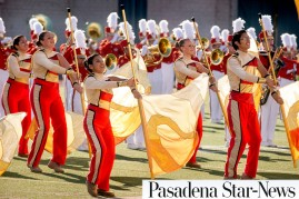 Pasadena-Star-News-PCC-Tournament-of-Roses-Honor-Band-and-Herald-Trumpets-2013-Leo-Jarzomb