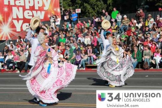Univision-USA-34-Channel-banda-panama-desfile-de-las-rosas-2014-rose-parade-05