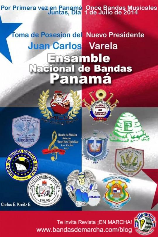Ensamble-Nacional-de-Bandas-Panama-2014-Toma-de-Posesion