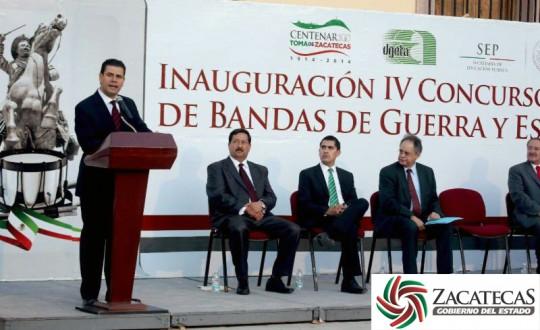 Gobierno-de-Estado-de-Zacatecas-Inauguracion-IV-Concurso-Nacional-de-Bandas-de-Guerra-y-Escoltas-de-Bandera-DGTA-2014-01