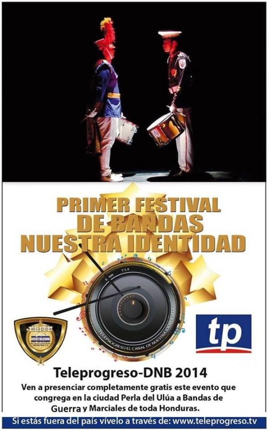 Primer Festival de Bandas Nuestra Identidad DNB Elite Honduras Teleprogreso 2014