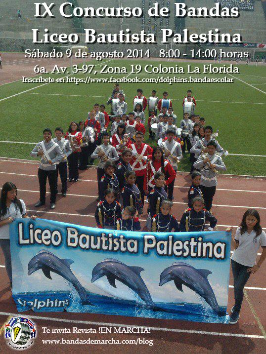 Afiche concurso Liceo Bautista Palestina 2014 Palestina