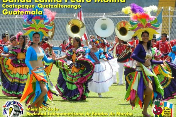 Guatemala: Banda Pedro Molina en Desfile de las Rosas 2016
