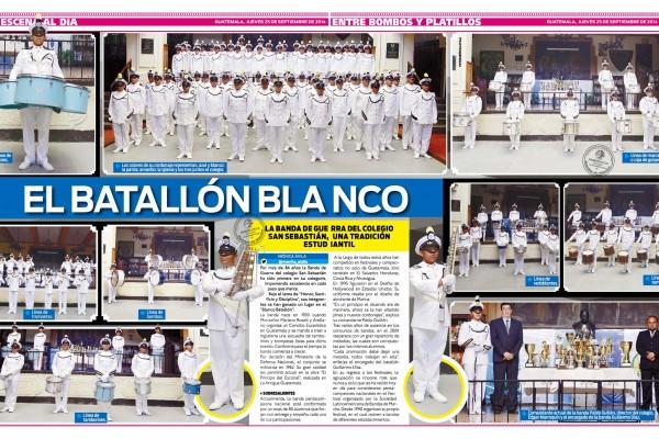 Al Día, Guatemala: El Batallón Blanco del Colegio San Sebastián