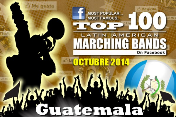 Guatemala: Top 100 Latin American Marching Bands on Facebook, ranking octubre 2014