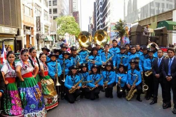 Nueva York, USA: Bandas de México, Panamá, Honduras y Guatemala en Desfile de la Hispanidad 2014