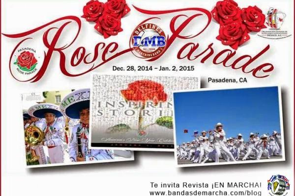 México: Delfines Marching Band en el Desfile de las Rosas 2015