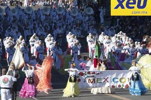 XEU, México: Gran participación de Delfines Marching Band en el Desfile de las Rosas