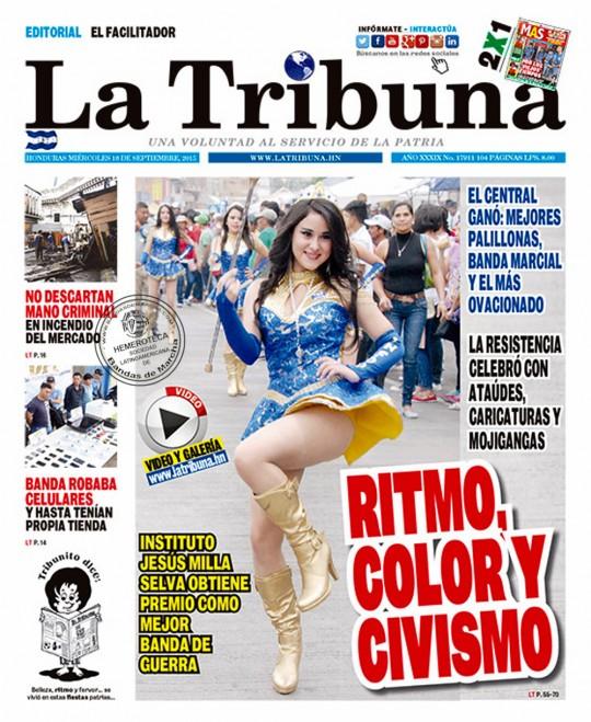 La-Tribuna-Honduras-portada-16-de-septiembre-2016-fiestas-patrias