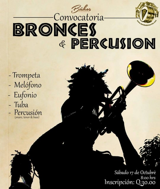 Buhos-Marching-Band-Guatemala-Convocatoria-Bronces-y-Percusion-2015-tercera-temporada