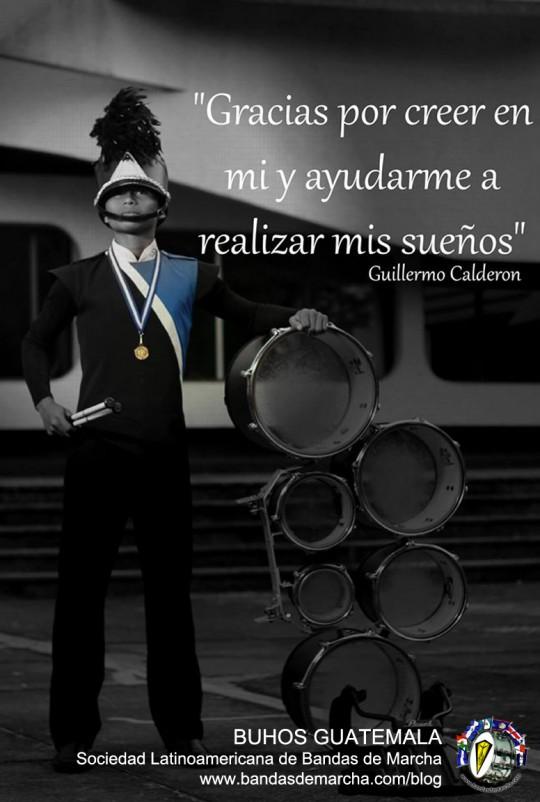 Guillermo-Calderon-Buhos-Marching-Band-Guatemala-becado-en-Colombia