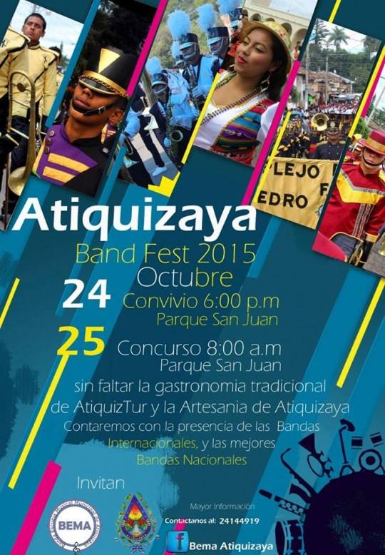 Poster Atiquizaya Bandfest 2015 El Salvador BEMA