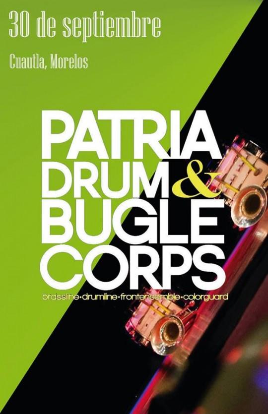 Poster Patria Drum and Bugle Corps Guatemala en Bandfest Cuautla Morelos Mexico Chinelos Fenix