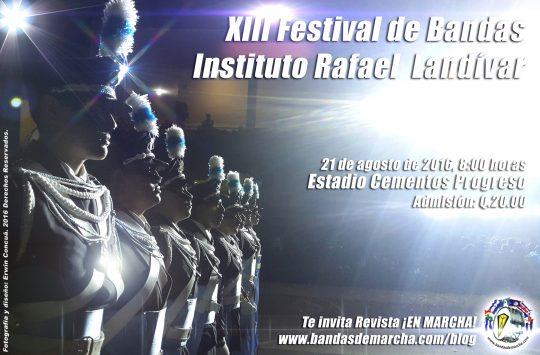 Poster-XIII-Festival-de-Bandas-Instituto-Rafael-Landivar-2016-Guatemala